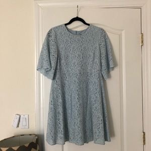 Zara Light Blue Lace Dress